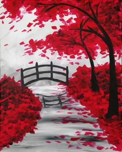 A Bridge in the Fall II paint nite project by Yaymaker