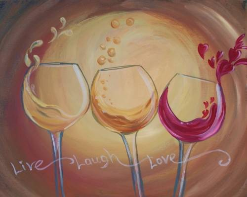 A 3 Wines and a Toast paint nite project by Yaymaker