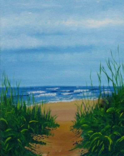 A Waves on the East Coast paint nite project by Yaymaker
