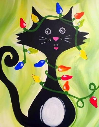 A Curious Christmas paint nite project by Yaymaker