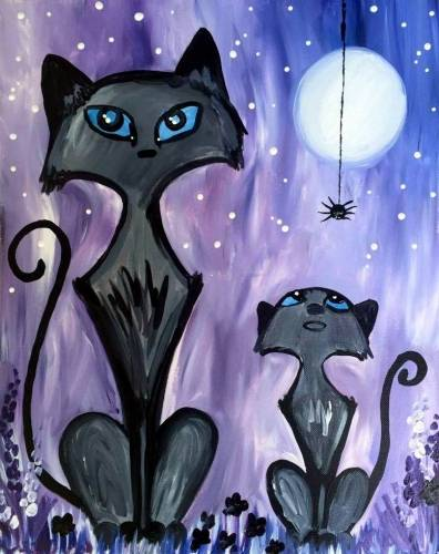 A Curious Halloween paint nite project by Yaymaker