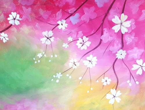 A Alluring Blossoms paint nite project by Yaymaker