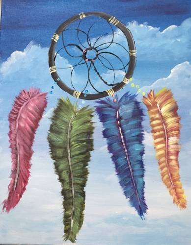 A My Dream Catcher paint nite project by Yaymaker