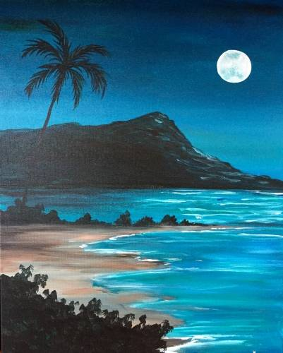 A Blue Moon Island paint nite project by Yaymaker