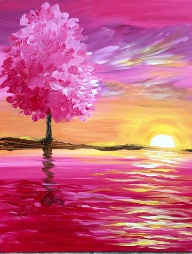 A Pink Reflection II paint nite project by Yaymaker