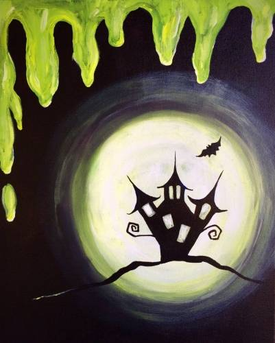 A Goosebumps by Moonlight paint nite project by Yaymaker