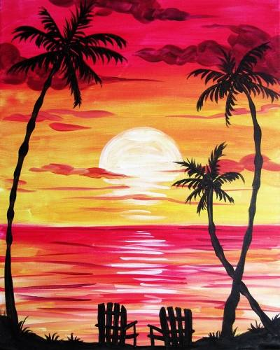 A Afternoon Retreat paint nite project by Yaymaker