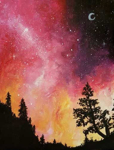 A Galaxy in the Pines II paint nite project by Yaymaker