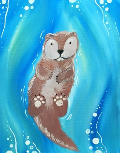 A Otter Float paint nite project by Yaymaker