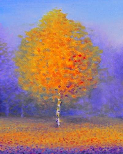 A Fall Sycamore Tree paint nite project by Yaymaker