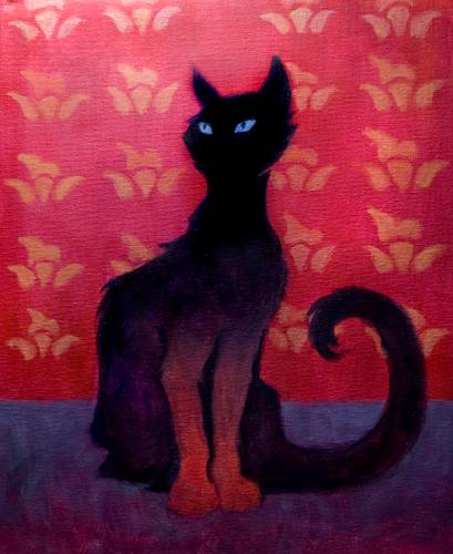 A Black Cat paint nite project by Yaymaker