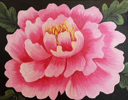 A Pretty Peony paint nite project by Yaymaker