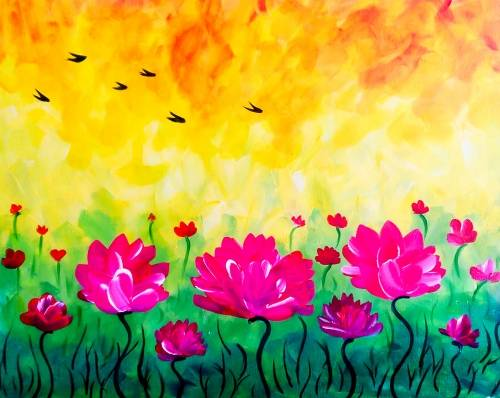 A Blooming Meadow paint nite project by Yaymaker