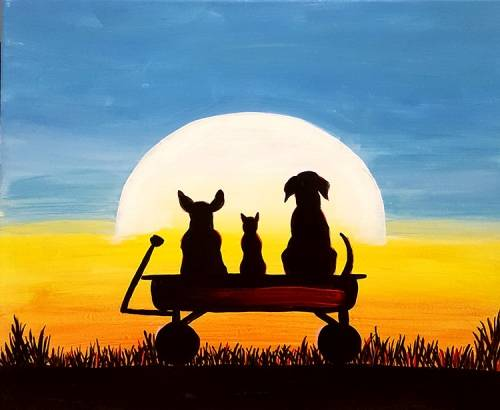 A Cats  Dogs paint nite project by Yaymaker