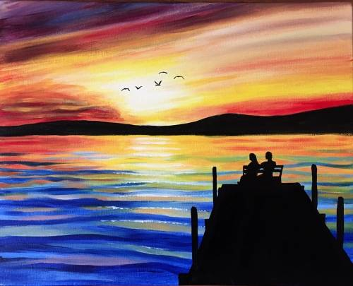 A Watchin the Tide Roll Away paint nite project by Yaymaker