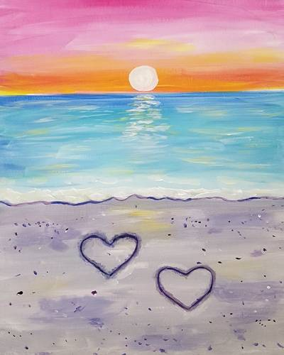 A Love  Sex On The Beach paint nite project by Yaymaker