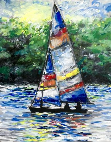 A Sailing Splendor paint nite project by Yaymaker