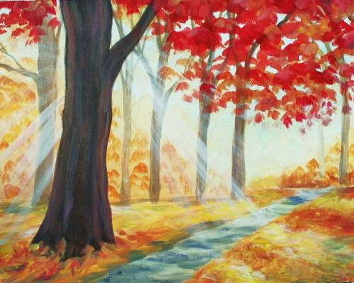 A Afternoon Golden Path paint nite project by Yaymaker