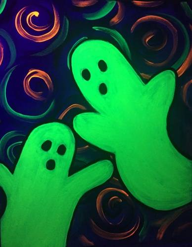 A Boo  Black Light paint nite project by Yaymaker