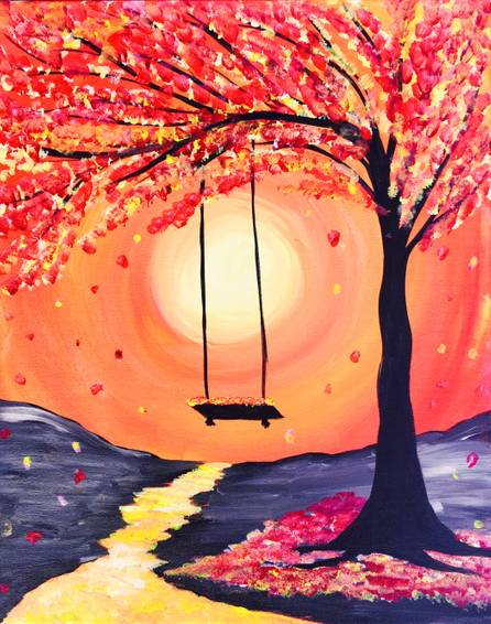 A Whimsical Fall paint nite project by Yaymaker