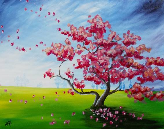 A Blossoms In The Field paint nite project by Yaymaker