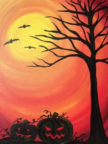 A Halloween Delight paint nite project by Yaymaker