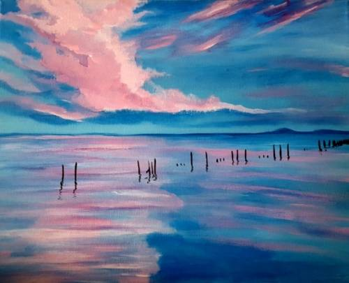 A Cotton Candy Sunset II paint nite project by Yaymaker