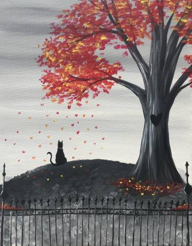 A Autumn Hearts paint nite project by Yaymaker