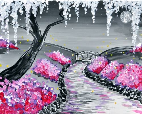 A Public Gardens Twilight paint nite project by Yaymaker