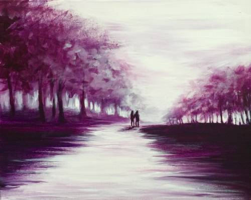 A Walk With Me paint nite project by Yaymaker