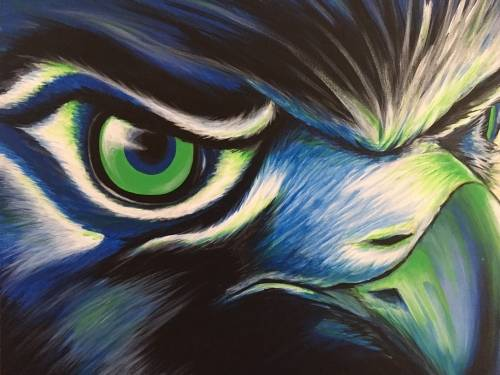A Hawk Fan Forever paint nite project by Yaymaker