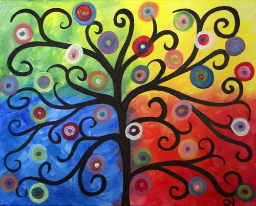 A Circle Tree paint nite project by Yaymaker