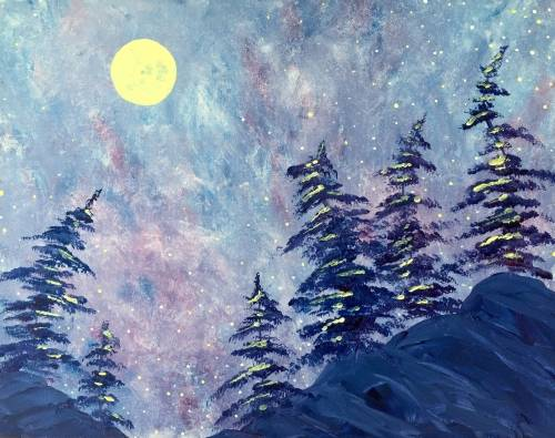 A Cold Burn Moonrise paint nite project by Yaymaker