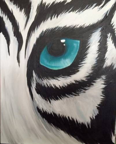 A White Tiger Gaze paint nite project by Yaymaker