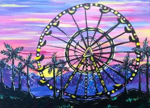 A Coachella paint nite project by Yaymaker