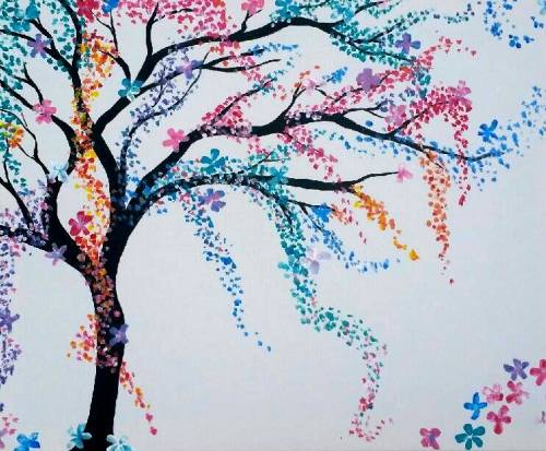 A Rainbow Tree III paint nite project by Yaymaker