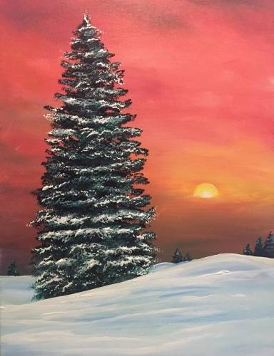 A Winter Spruce paint nite project by Yaymaker