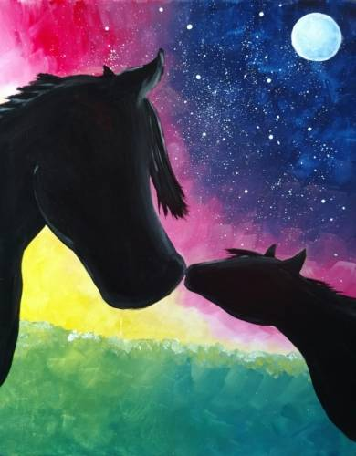 A Wild Horse Love paint nite project by Yaymaker
