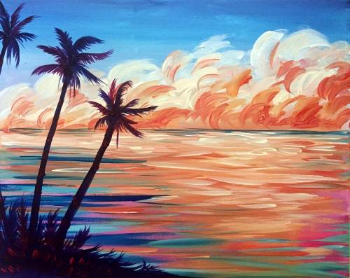 A Tropical Breeze paint nite project by Yaymaker