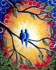 A Love Birds 3 paint nite project by Yaymaker