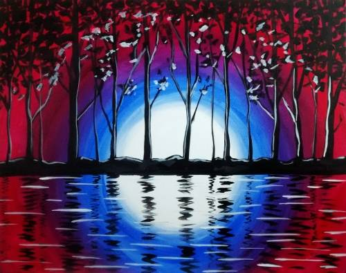 A Evening Glow paint nite project by Yaymaker