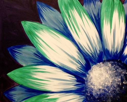 A Moody Blue Petals paint nite project by Yaymaker