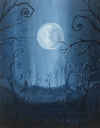 A Spooky Night paint nite project by Yaymaker