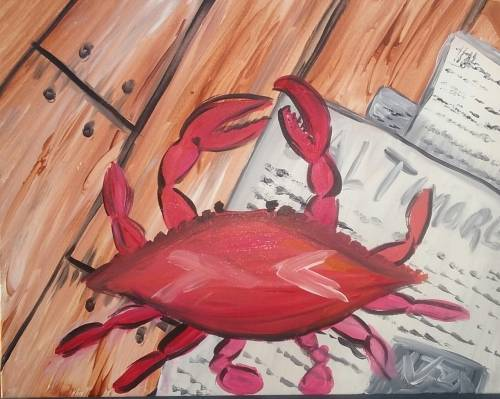 A Crab Pickin paint nite project by Yaymaker