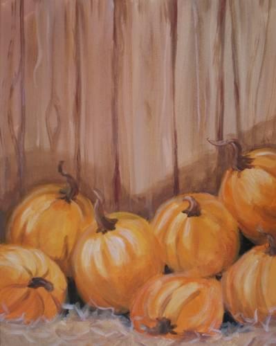 A Pumpkin Harvest II paint nite project by Yaymaker
