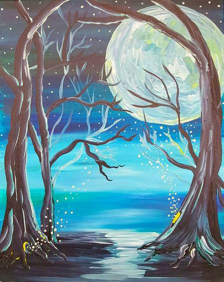 A Night in Fairy Hollow paint nite project by Yaymaker