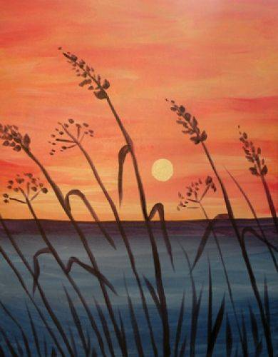 A Tall Grass By The Sea paint nite project by Yaymaker