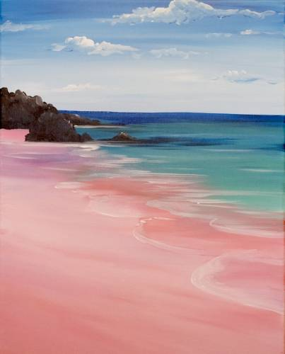 A Bahama Beach paint nite project by Yaymaker
