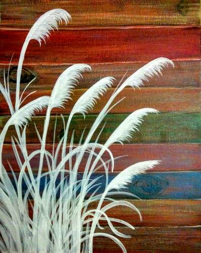 A Sweet Wheat Grass paint nite project by Yaymaker