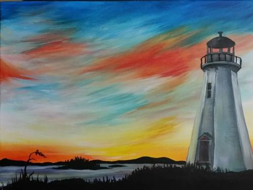 A Snowtail Lighthouse paint nite project by Yaymaker